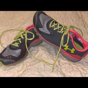 Under Armour  Shoes Pink / Gray / Yellow Sneakers